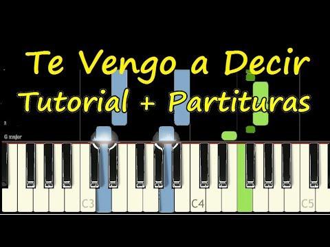 TE VENGO A DECIR Piano Tutorial Cover Facil + Partitura PDF Sheet Music Easy Midi thumbnail