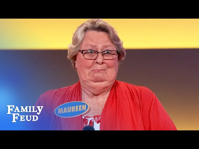 Maureen's naked on the sofa watching WHAT?!   Family Feud