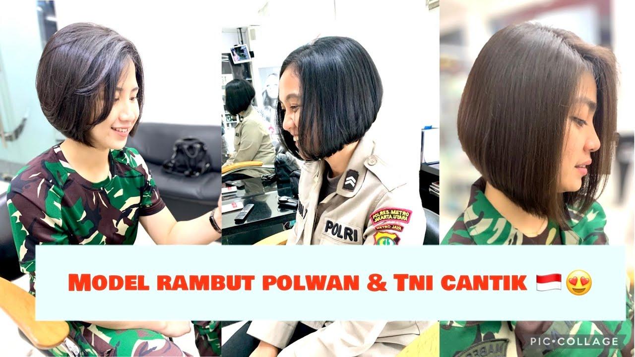 Bob Hairstyle Hairstyles Short Hairstyle Polwan Cantik Tni Cantik Hair Trendy Youtube