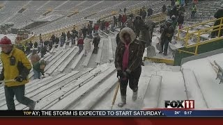 Shoveling out Lambeau Field