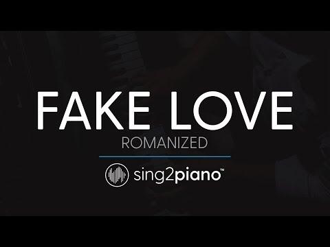 FAKE LOVE (Piano Karaoke Instrumental) BTS (방탄소년단) - ROMANIZED