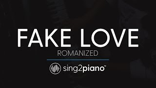 FAKE LOVE (Piano Karaoke Instrumental) BTS (방탄소년단) - ROMANIZED