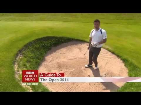 BBC World TV guide to the Open - greens and bunkers