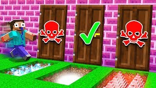 *DO NOT* CHOOSE THE WRONG DOOR IN MINECRAFT!