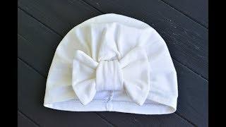 Как сшить тюрбан для девочки с бантиком