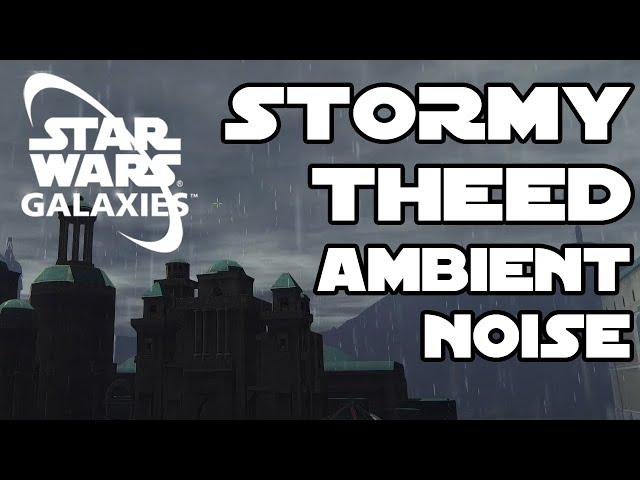 Theed, Naboo Rainstorm turns into a beautiful sunset (Star Wars Galaxies)