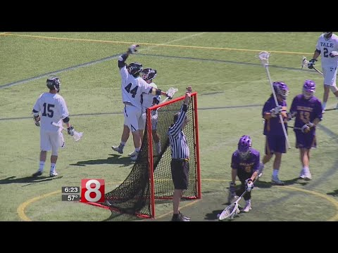 No. 5 Yale lacrosse tops No. 2 Albany, stays perfect in Ivy League