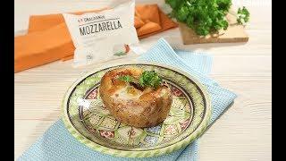 Запеченный картофель с беконом и моцареллой