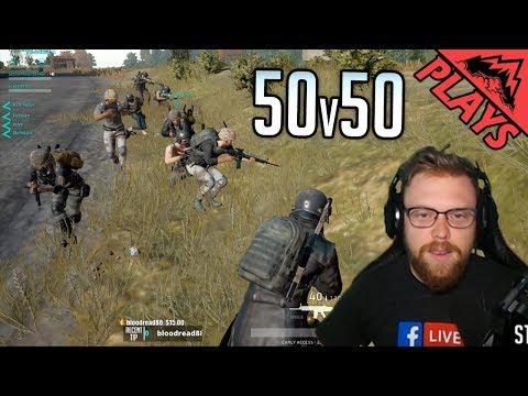 50v50 INSANITY - PlayerUnknown's Battlegrounds #54 (PUBG Gameplay Custom Games) StoneMountain64