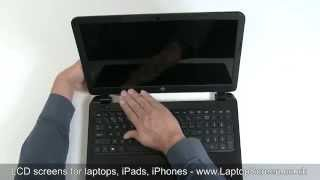 how to replace laptop screen fixing lcd on hp 15 notebook pc