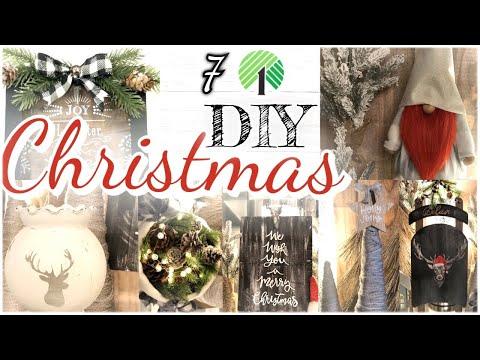 CHRISTMAS DOLLAR TREE FARMHOUSE DIY DECOR/ RUSTIC FARMHOUSE CHRISTMAS TREND 2019 diy dollar store🎄