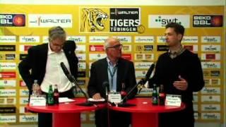 TigersTV Pressekonferenz  WALTER Tigers Tübingen 62 91 ALBA BERLIN   Beko Basketball Bundesliga