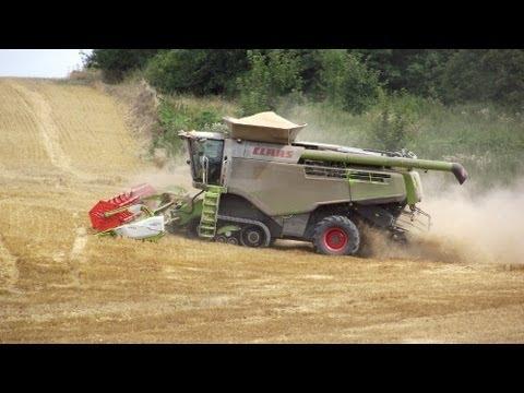 NEWS 2013 : CLAAS Lexion 780 et V1200 avec des chenilles de 900 à la moisson du blé en 2013