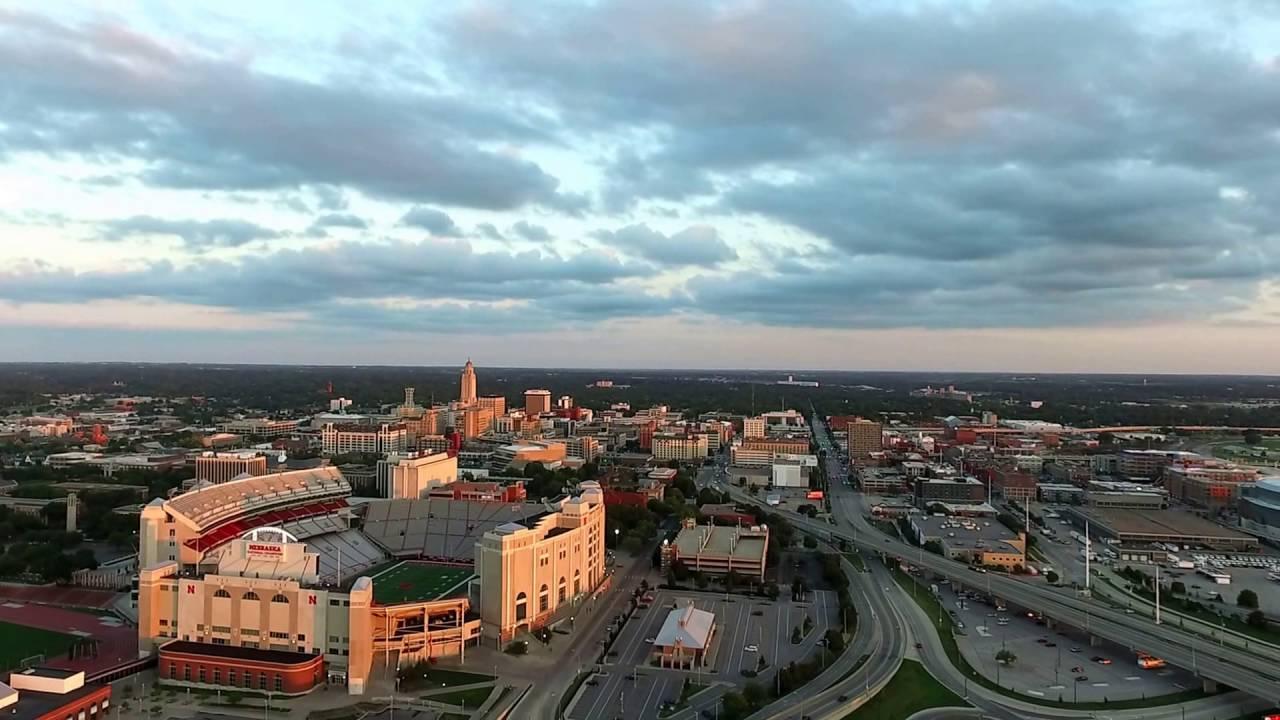 Lincoln Nebraska Drone Memorial Stadium - YouTube