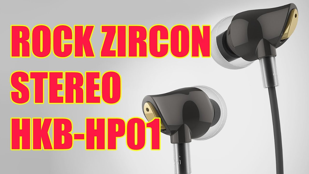Rock Zircon Stereo Earphone Youtube Black