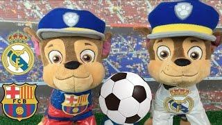Patrulla canina español juega 1ª parte BARCELONA-MADRID 2017 fútbol /Videos patrulla cachorros c 62