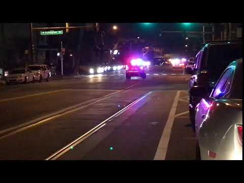 PHILADELPHIA POLICE DEPARTMENT CRUISER RESPONDING IN PHILADELPHIA, PENNSYLVANIA.