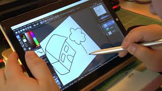 Teclast TBook 10S and Stylus Drawing Demo - IT DOESN'T SUCK!