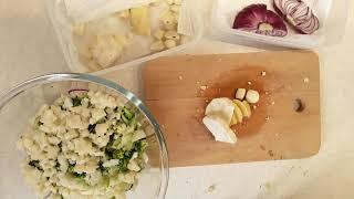 26 февраля 2018 г. Салат:  капуста, лук, брокколи, цветная капуста, шпинат, маш...