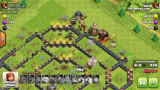 TH9 epic attack strategy | No Dark troops, no Clan Castle troops