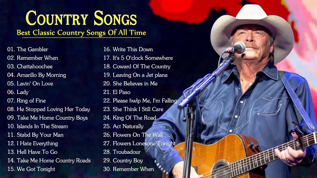 Greatest Classic Country Songs By Alan Jackson John Denver George Strait Kenny Roger Youtube