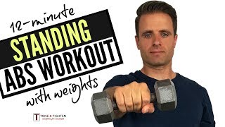 12 Minute Standing Abs Workout With Weights At Home