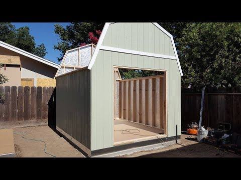 Tuff Shed Installed Start To Finish Time Laps Youtube