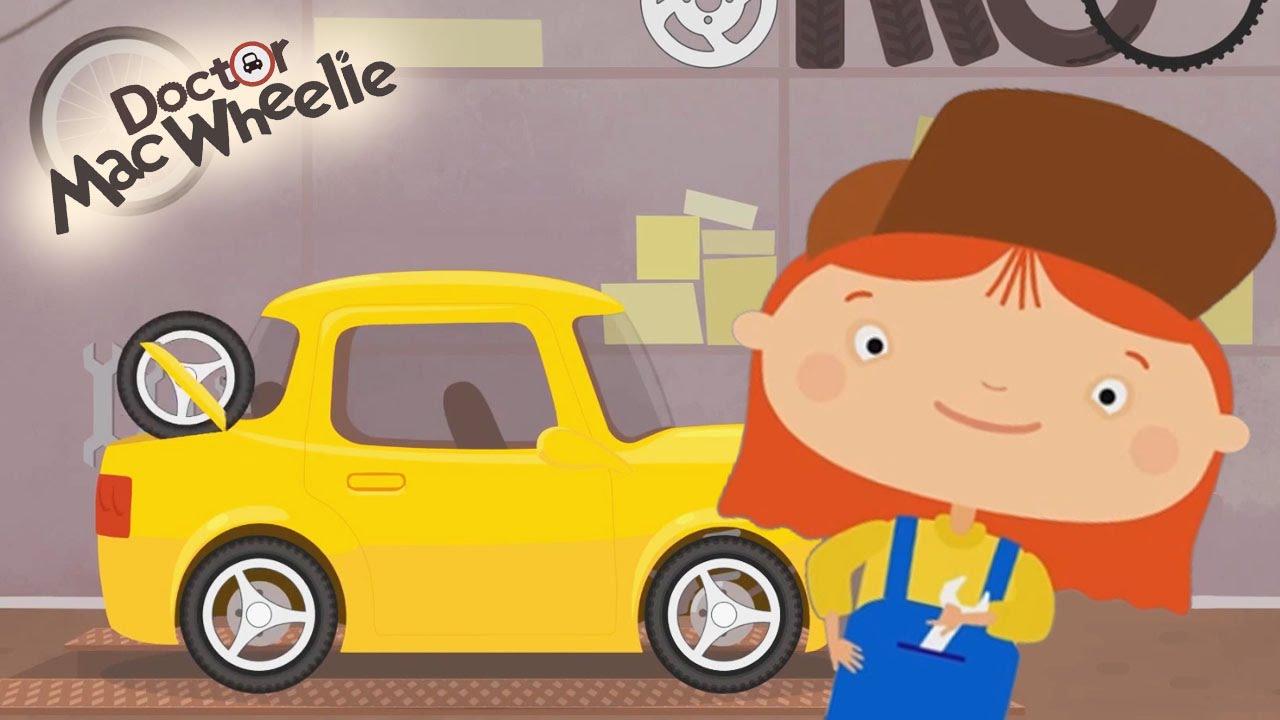Cartoni animati per bambini dottoressa mac wheelie e la macchina