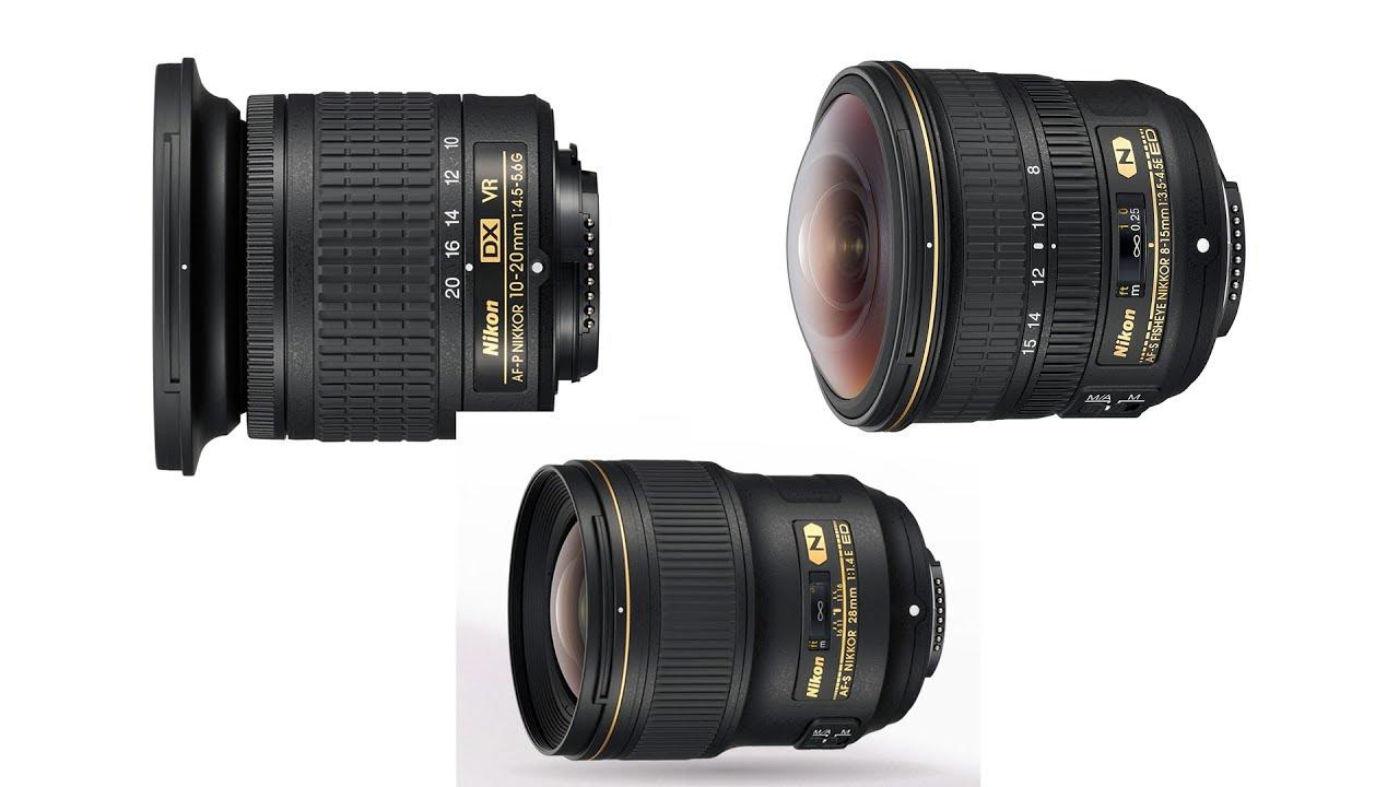 Nikon AF-S 8-15mm f/3.5-4.5 ED Fisheye, AF-P 10-20mm f/4.5-5.6 G VR ...