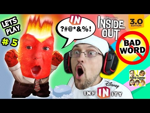 Lets Play DISNEY INFINITY 3.0 INSIDE OUT #5: Chase's Curse Word! Mental Notes Phase 1, 2 | FGTEEV