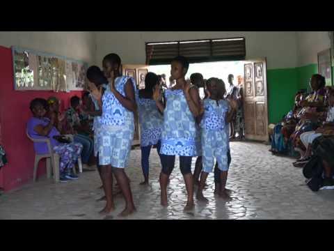Cultural Dancing at Akoma Academy - Ghana Tour May 2017