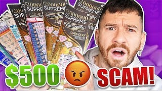 I Bought $500 Worth of Lottery Tickets And This Happened.. **WE GOT SCAMMED?!**
