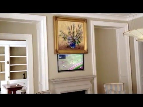 TV Hidden Behind Painting Call 866-339-1945 - YouTube