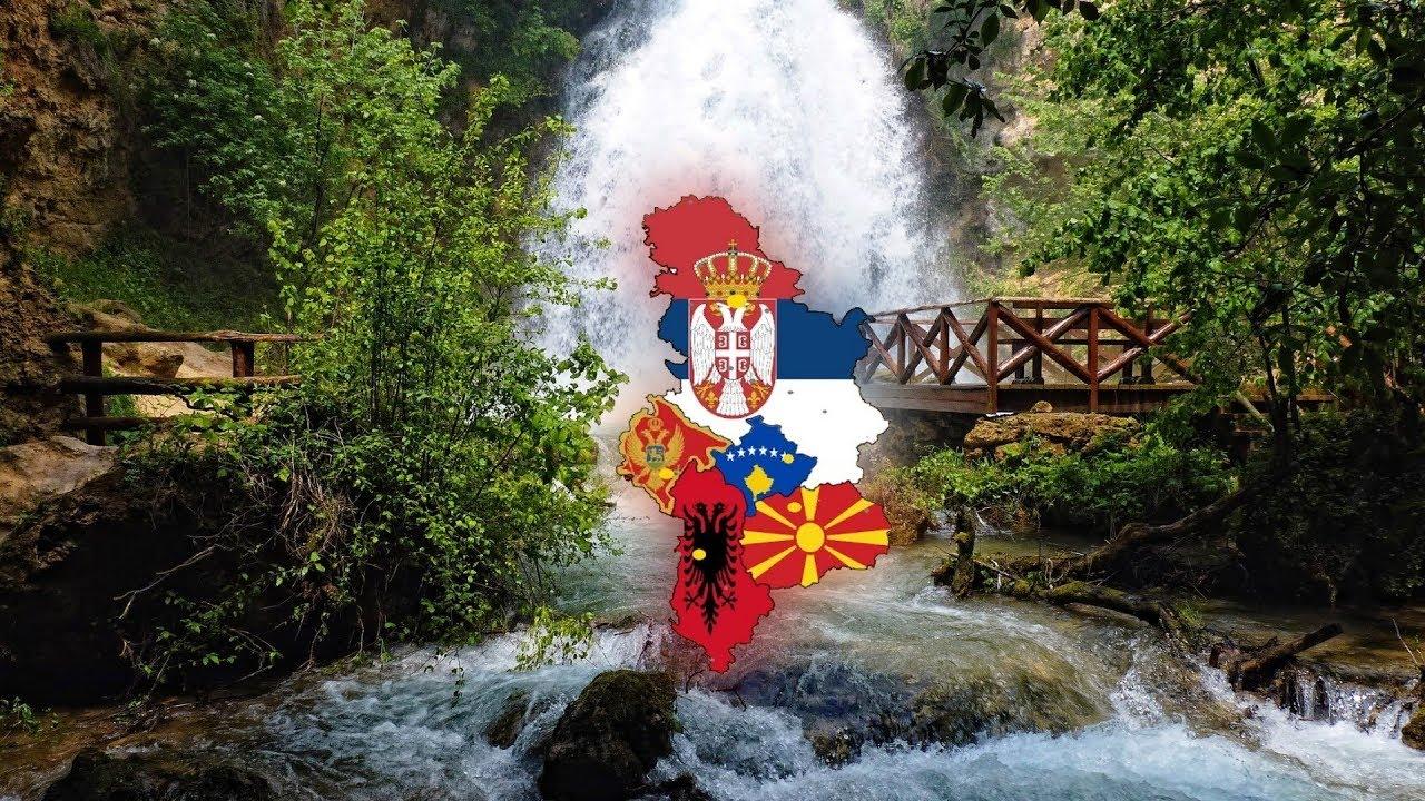 Albania Flag In Serbia