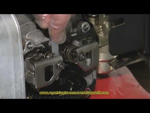 Repairing Lawnmowers For Profit Part 33 (Setting Valves On An Overhead Cam Honda Lawnmower)