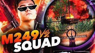 M249: YOKEDİYOR! (DUO VS SQUAD)   PUBG Mobile KAOS Team Erangel FPP w/KÖRCERRAH