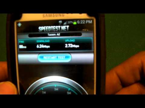Cricket 4g LTE Speed Test In Phoenix AZ WIth Samsung Galaxy S3