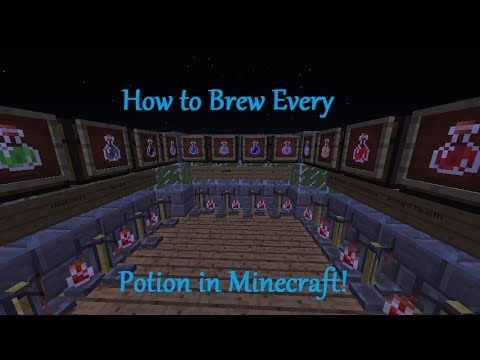 Minecraft How To Brew Every Potion 1 8 Youtube