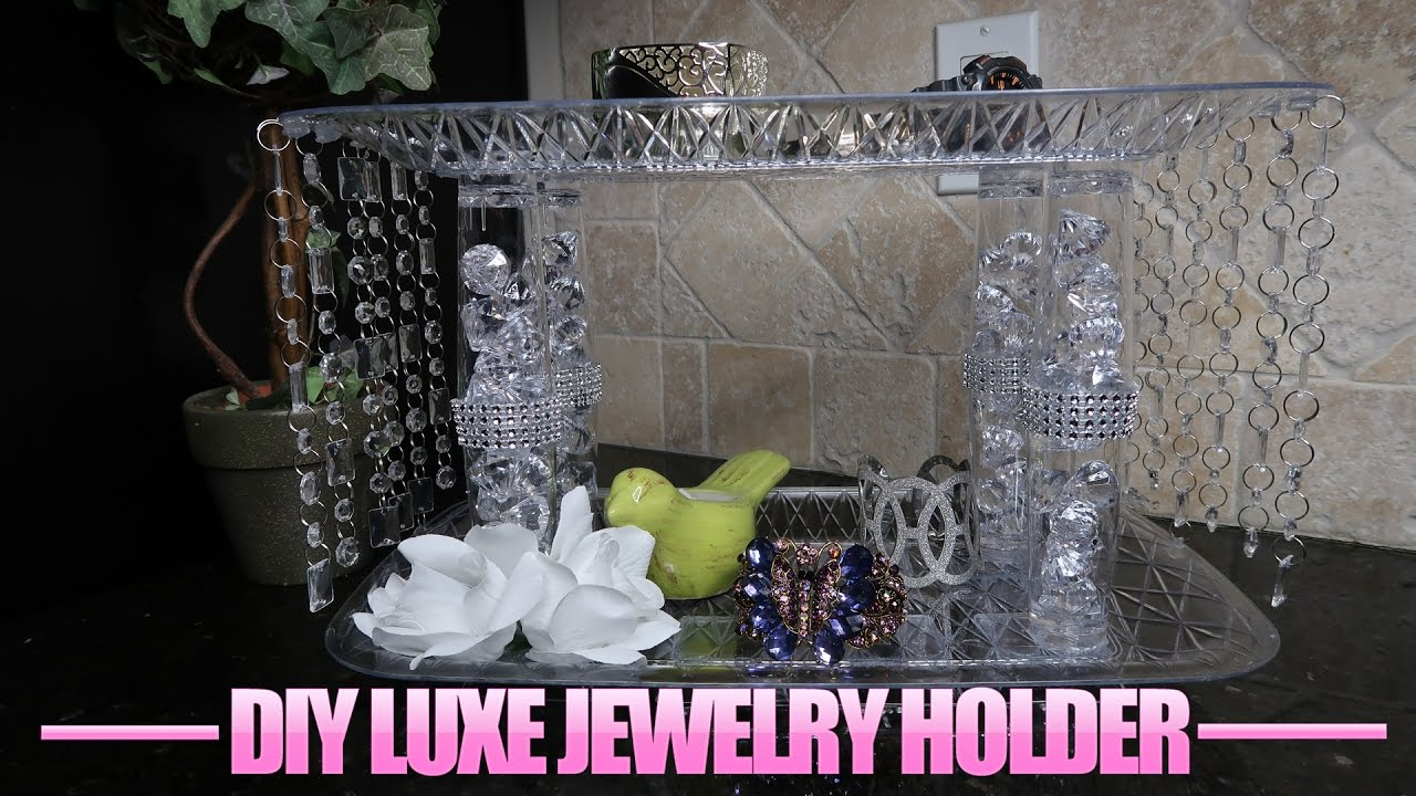 Dollar Tree DIY Luxe Jewelry Holder YouTube