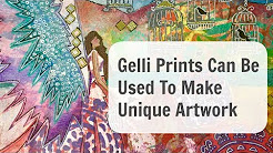 How to use your Gelli Prints & make collages art pieces that you can sell.
