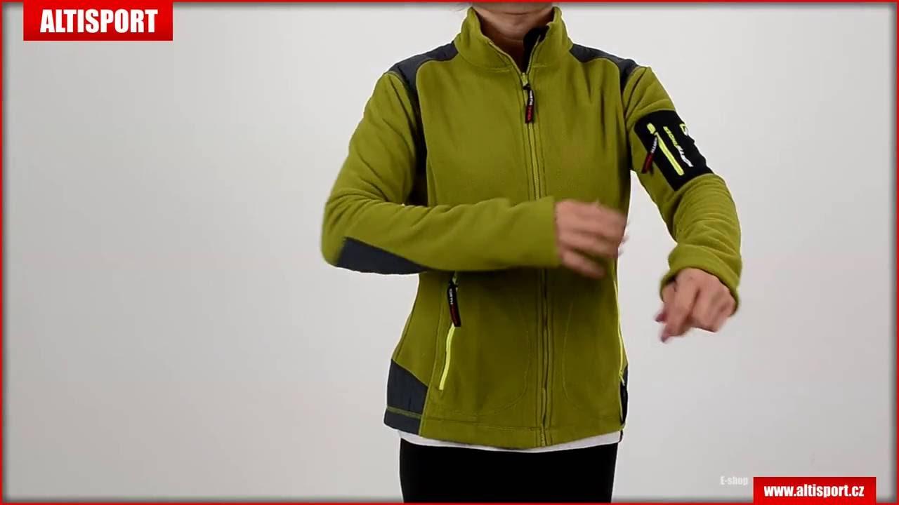 78f724717fbb dámská fleece mikina northfinder alana mi 4170or zelená - YouTube