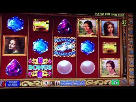 Da Vinci Diamonds slot machine bonus free spins IGT