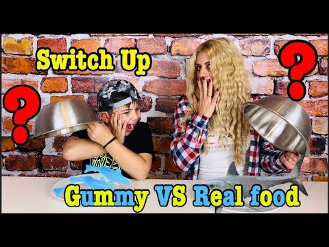 REAL vs GUMMY FOOD SWITCH UP CHALLENGE Greece Famous Toli