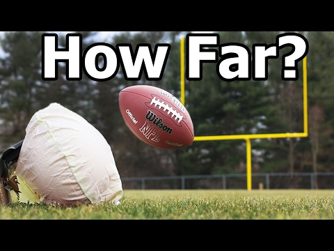 How FAR can an Airbag Launch a Football?!