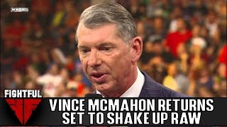 """WWE Chairman Vince McMahon Making His Return To RAW This Upcoming Monday """"To Shake Things Up"""""""