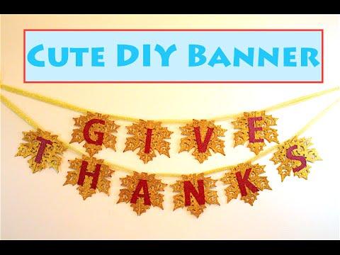 DIY Thanksgiving Banner Decoration!