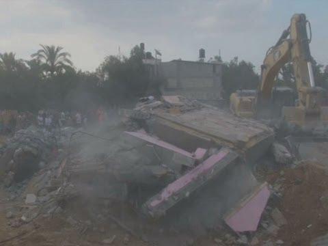 Raw: 25 Family Members Killed in Gaza Airstrike