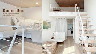 【ルームツアー】1R・8畳 IKEAでシンプルナチュラルな一人暮らしの収納とインテリア ロフト付き賃貸・ワンルーム ニトリ・3COINS DIY  Japanese  room tour