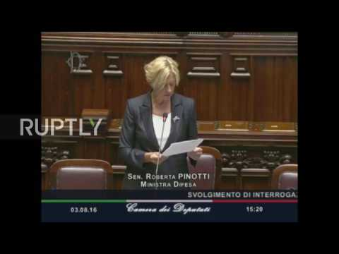 Italy: Def Min to consider 'indirect support' to US for Libya airstrikes