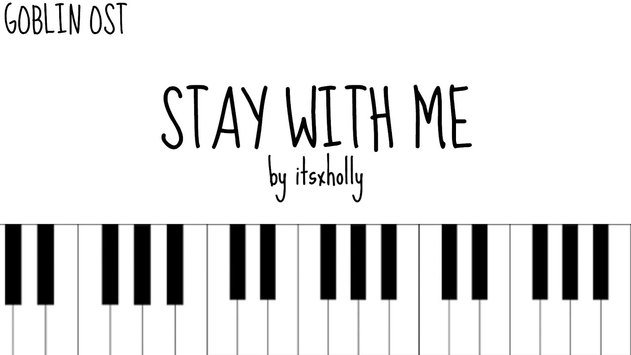 STAY WITH ME   CHANYEOL X PUNCH   Piano Tutorial   YouTube
